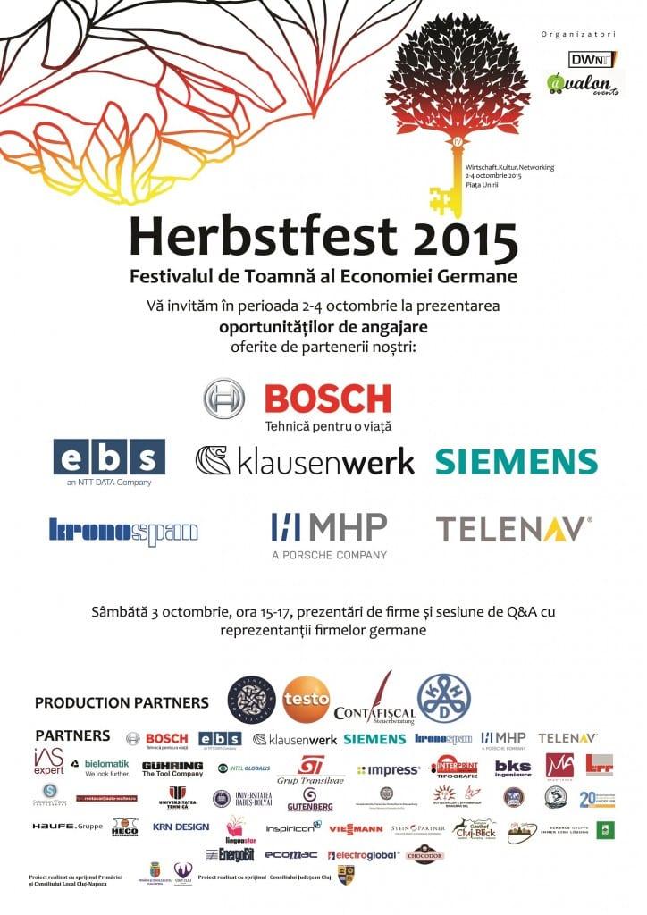 Afis Oportunitati de angajare la Herbstfest 2015
