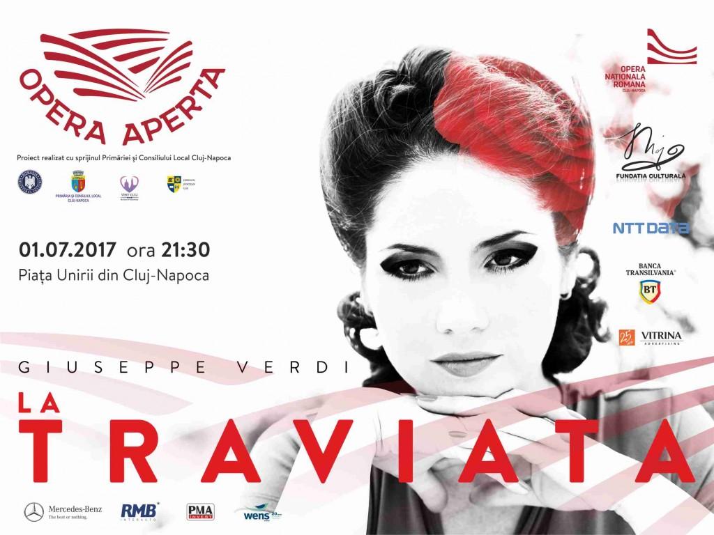 Afis OPERA APERTA-Traviata,1iulie
