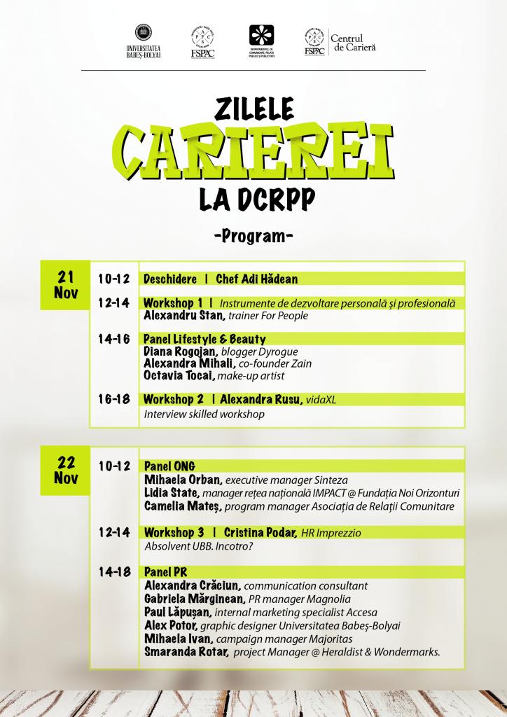 Program Zilele Carierei DCRPP